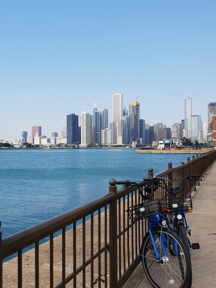 Fietsen_Skyline_Chicago