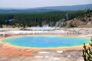 Uitzicht Grand Prismatic Spring Yellowstone
