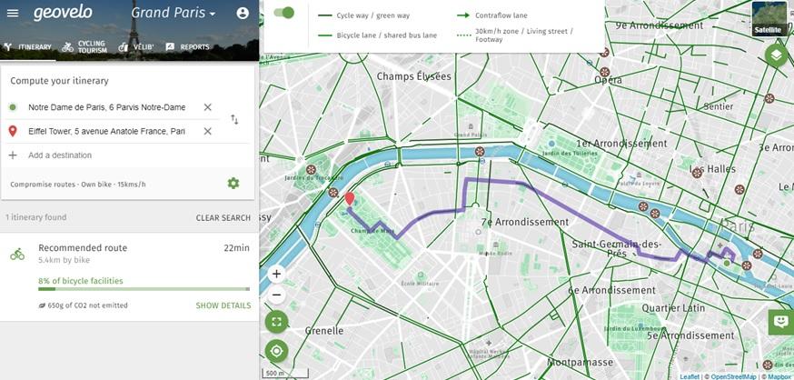 Geovelo_Parijs