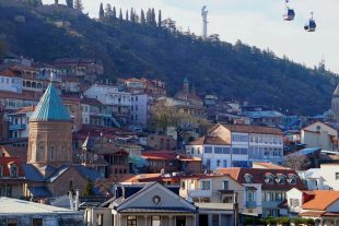 Tbilisi panorama oude stad