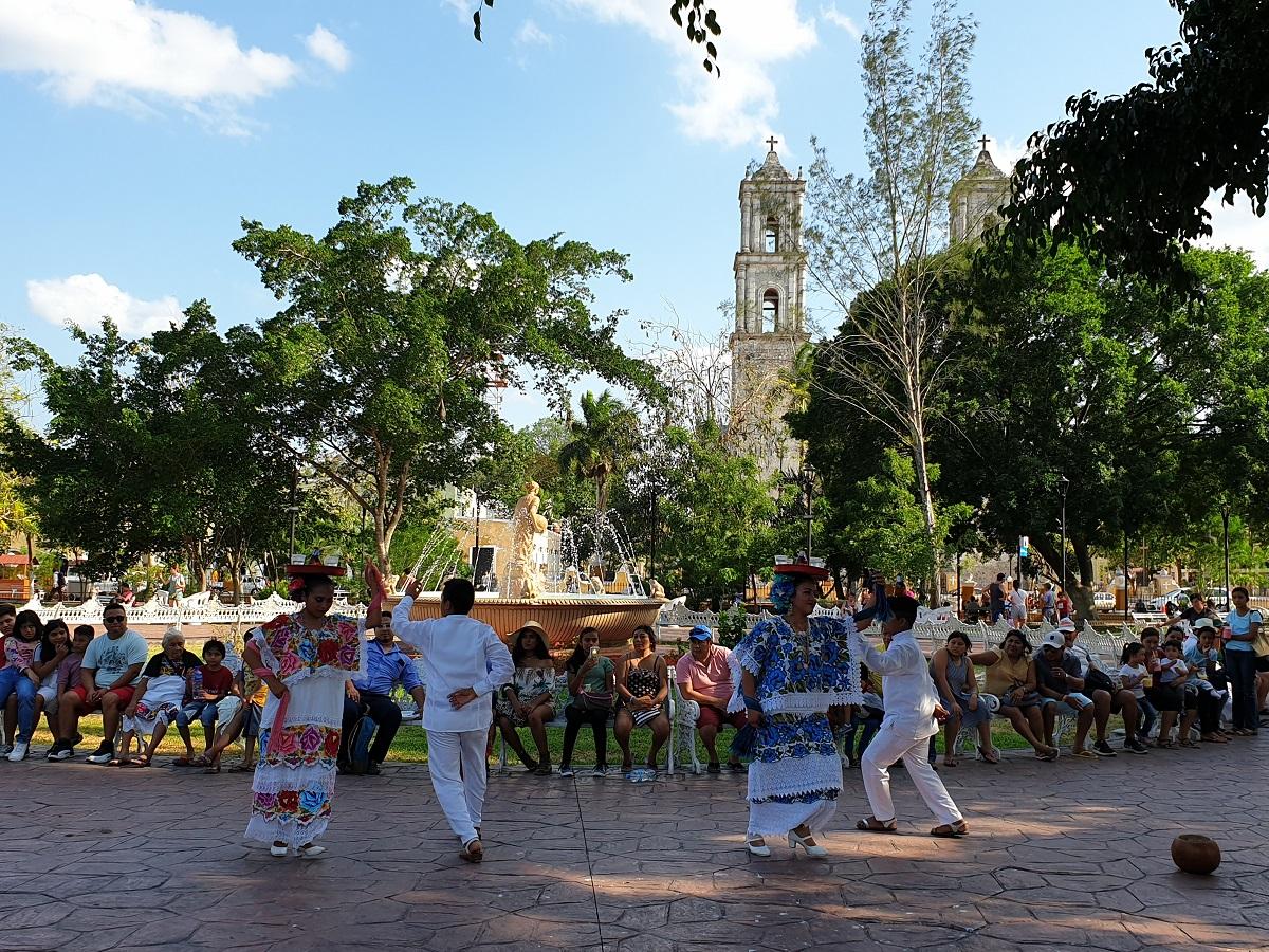 Valladolid dorpsplein Yucatan