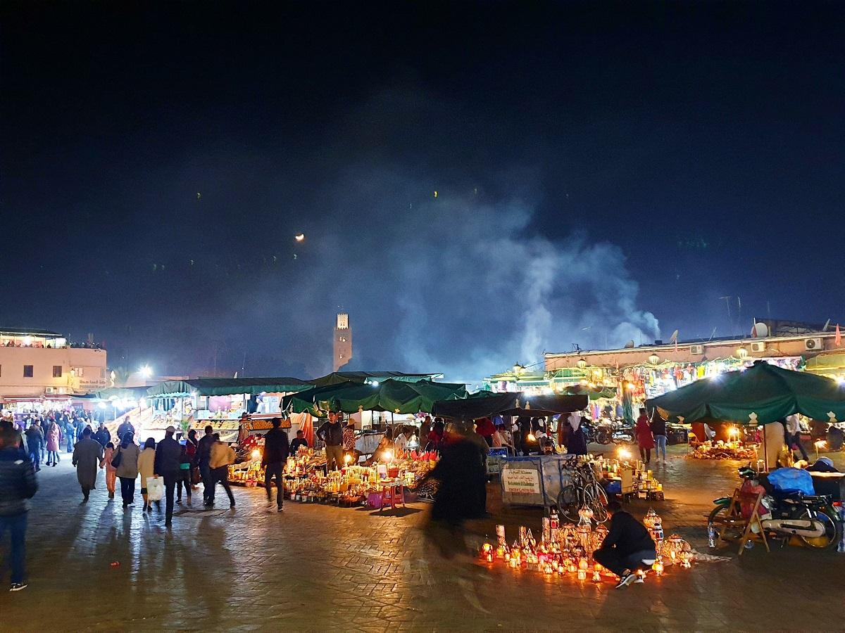 Djemaa El Fna_eten_drinken_Marrakech_Marokko
