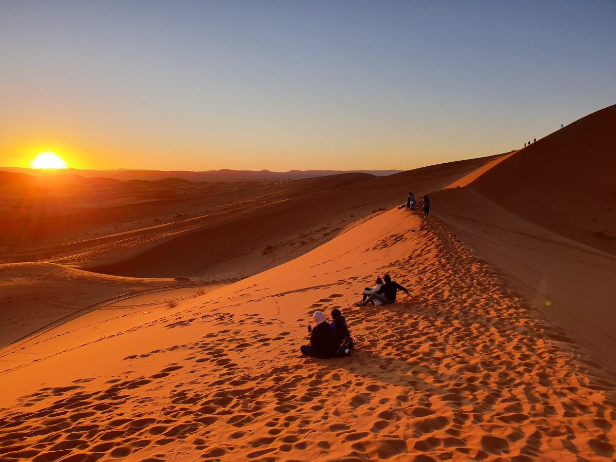 Zonsondergang_Merzouga_woestijn_Marokko